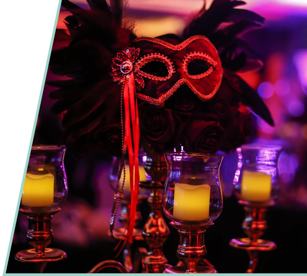 Masquerade themed party